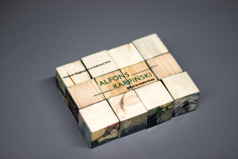 klocki edukacyjne drukowane na drewnie