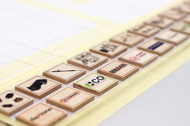 klocki edukacyjne zadrukowane drewniane