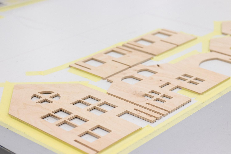 zabawki drukowane na drewnie